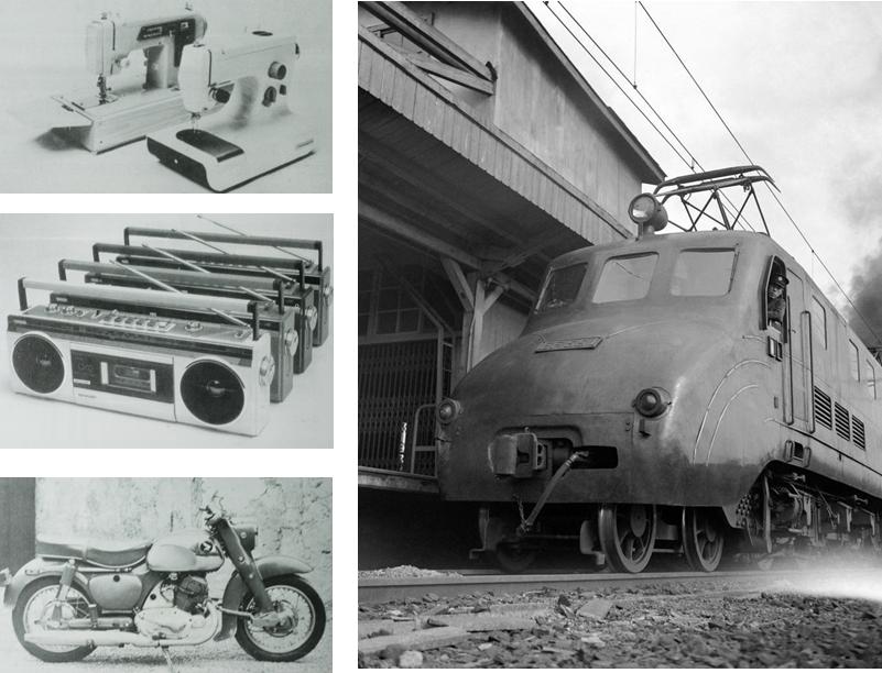 <p>戰後日本大力發展工業與交通建設</p>