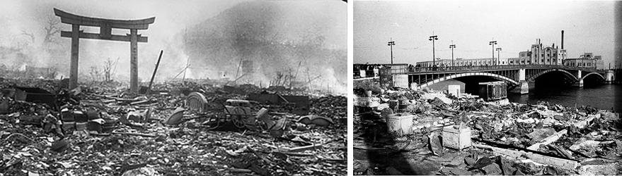 <p>日本戰後的景象</p>