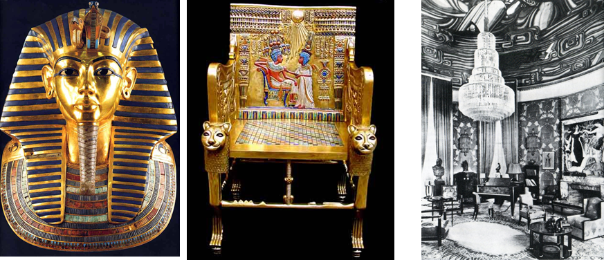 <p>當時風靡古埃及的華貴裝飾</p>
