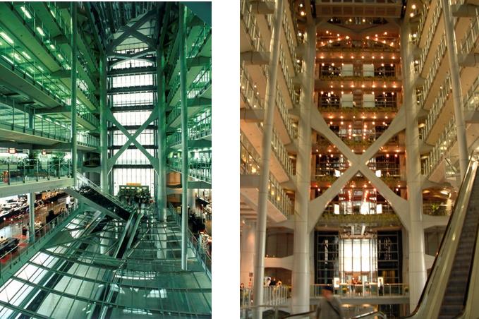 <p>高科技的建築內部設計</p>