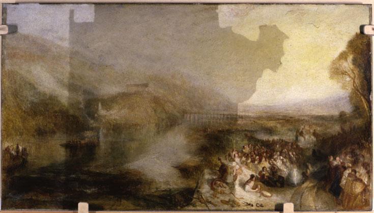 <p>J.M.W.&nbsp;Turner&nbsp;The&nbsp;Opening&nbsp;of&nbsp;the&nbsp;Wallhalla,&nbsp;1842&nbsp;exhibited&nbsp;1843&nbsp;PVA&nbsp;varnish&nbsp;removal</p>