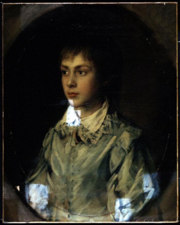 <p>Thomas&nbsp;Gainsborough&nbsp;Portrait&nbsp;of&nbsp;Edward&nbsp;Richard&nbsp;Gardiner&nbsp;c.1760&ndash;8&nbsp;during&nbsp;cleaning</p>