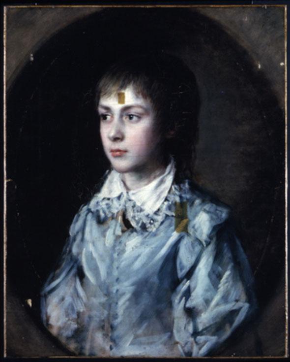 <p>Thomas&nbsp;Gainsborough&nbsp;Portrait&nbsp;of&nbsp;Edward&nbsp;Richard&nbsp;Gardiner&nbsp;c.1760&ndash;8&nbsp;cleaning&nbsp;nearly&nbsp;completed</p>