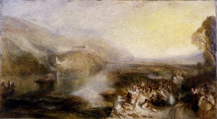 <p>J.M.W.&nbsp;Turner&nbsp;The&nbsp;Opening&nbsp;of&nbsp;the&nbsp;Wallhalla,&nbsp;1842&nbsp;exhibited&nbsp;1843&nbsp;after&nbsp;cleaning</p>
