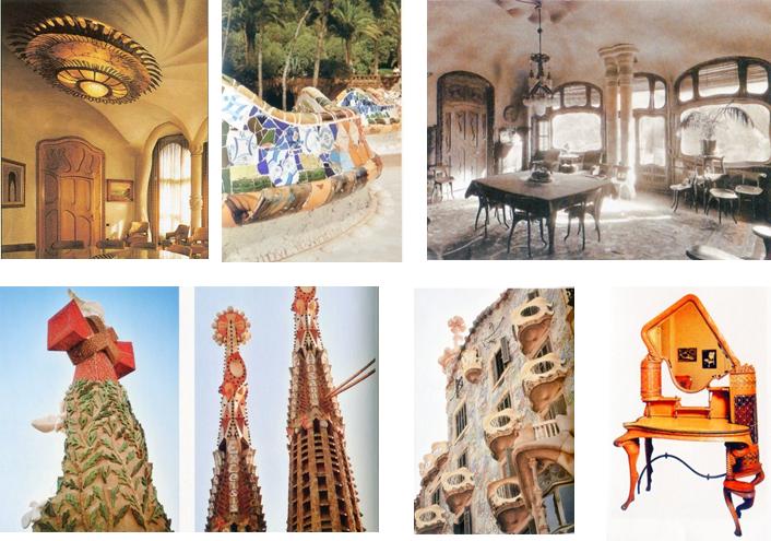 <p>西班牙高地&nbsp;的新藝術建築</p>