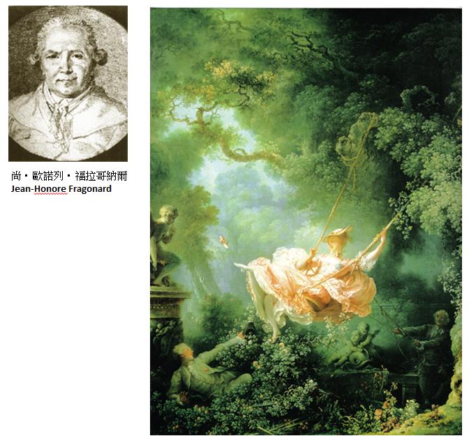 <p>法國18世紀洛可可風格</p>