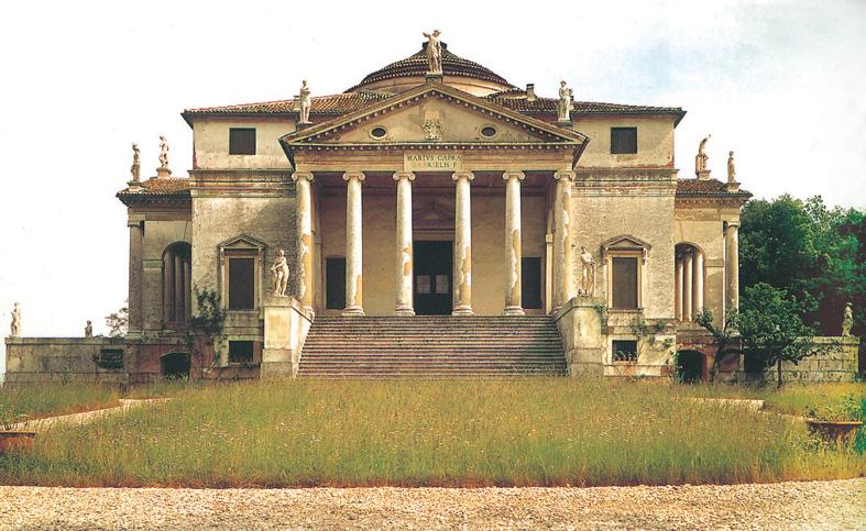 图3-15 帕拉底欧 / 圆厅别墅 / 1565-1569年 / 义大利威钦察