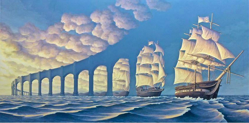 <p>Rob Gonsalves 空間錯覺藝術</p>